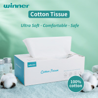 Winner Cotton Tissue Clean Face Makeup Wipes Wet Dry Dual Use Disposable Gentle Face Towelettes for Sensitive Skin Baby Wipes 1