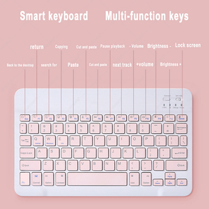 Image 5 - Cute Russian Arabic Hebrew Korean Spanish Keyboard Mouse For iPad 5th 6 6th 10.2 7 7th 8 8th Air 2 3 4 4th Pro 11 2018 2020 IOS