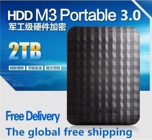 Free shipping element mobile hard disk USB 3.0 external hard drive 2 TB 2.5