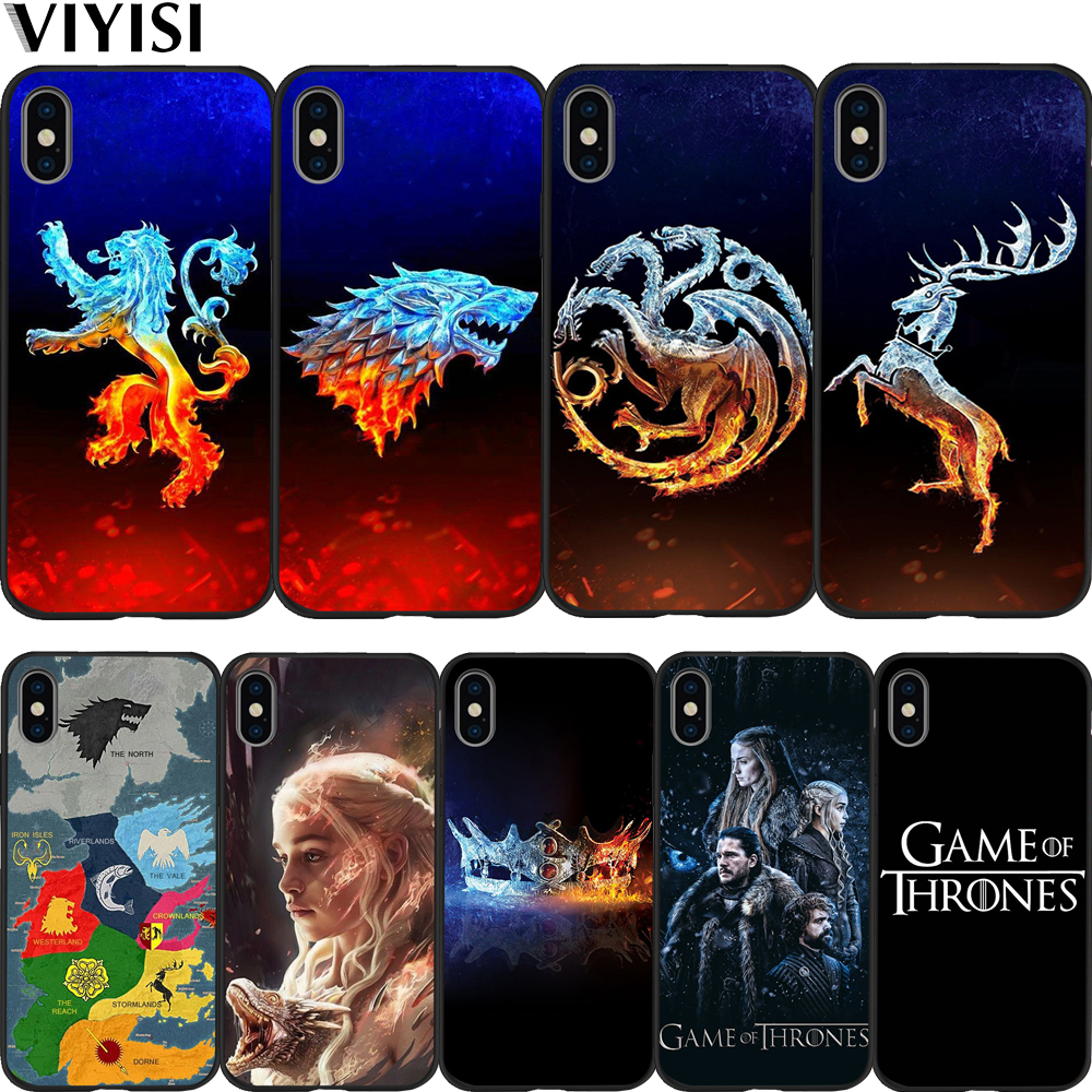 Luxury For iPhone 7 Case Game Thrones X Phone XS XR MAX 8 6 6S Plus 5 5s SE Soft Silicone Protective Coque Cover
