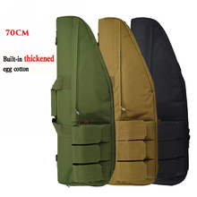 цена на Tactical Rifle Backpack 70cm Sniper Rifle Bag Heavy Duty Oxford Hunting Gun Holster Airsoft Paintball Gun Case