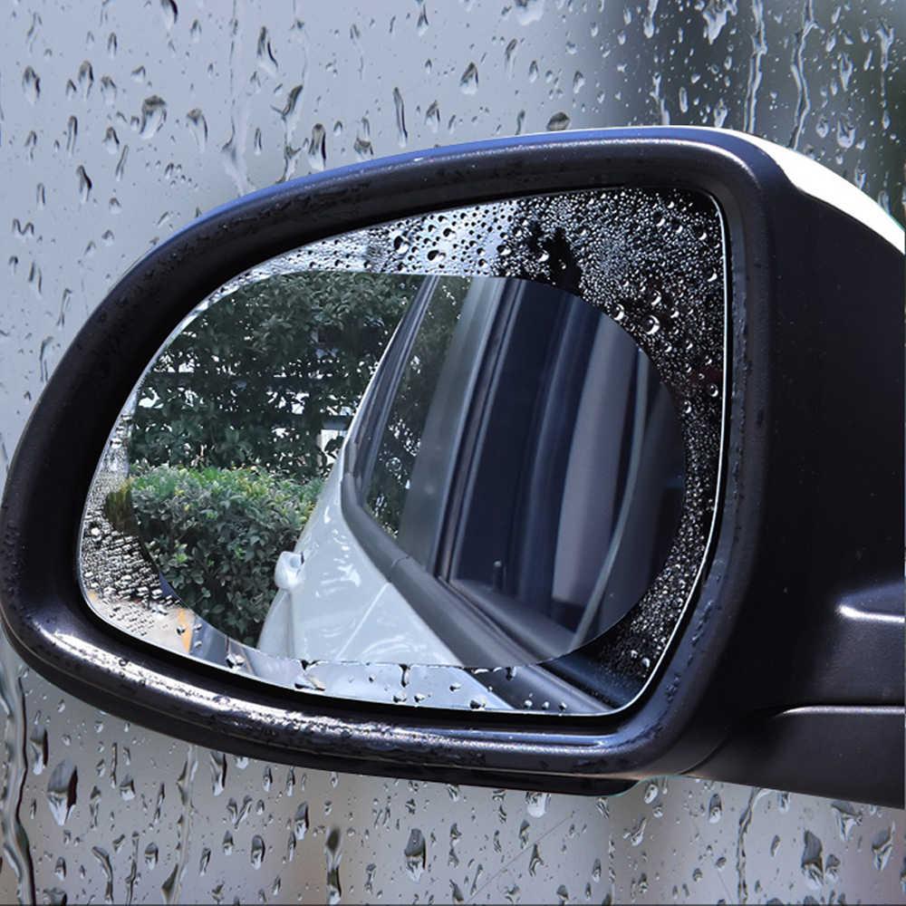 2 szt. Naklejka na samochodowe lusterko wsteczne folia ochronna okno samochodu Anti Water Anti Fog folia przeciwdeszczowa akcesoria ochronne