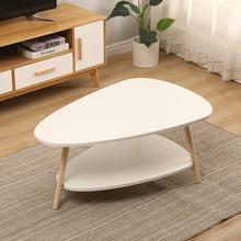 Wooden Two-layer Coffee Tables Bedroom Coffee Tables Simple Modern Living Room Tea Table Creative Balcony Side Table