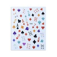 3D Poker Trend Aufkleber Für Nägel Dekoration Für Maniküre Designer Decals Falsche Nägel Aufkleber Sliders Für Nägel Klebstoff Zahlen