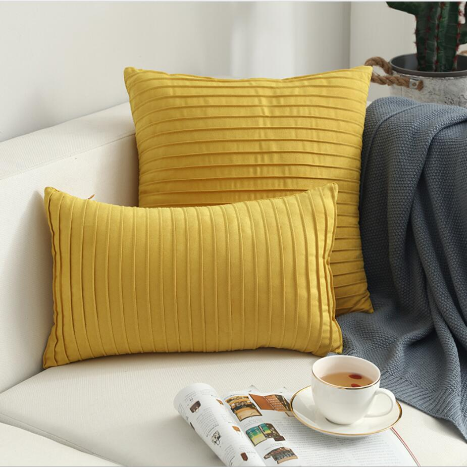 Modern Simple Nordic Velvet Stripe Pillow Cover Vertical Terms Cushion Cover For Sofa Couch Decoration Cushion Cover 45x45 30x50