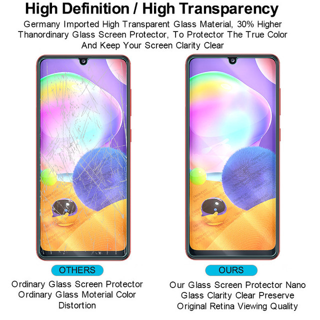 """2-in-1 camera lens glass for samsung a31 a 31 screen protector for samsung galaxy a31 2020 sm-a315f/ds 6.4"""" protective glas film 4"""