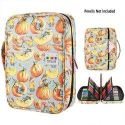 216 スロット大容量鉛筆バッグケースオーガナイザーコスメティックバッグため色鉛筆水彩ペンマーカーゲルペングレートギフト