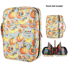 216 Slots Large Capacity Pencil Bag Case Organizer Cosmetic Bag For Colored Pencil Watercolor Pen Markers Gel Pens Great Gifts
