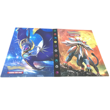 Game Cards binder Pokemon Cartoon Pokemon Trading Card Kid EX GX Collectible Book Loaded List Holder Capacity Binder Folder Toy