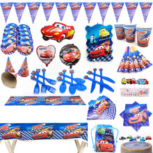 Disney Cars Party Supplies Birthday Decorations Kids Boy Set Theme Balloons Cake Toppers Banner Cups Plates