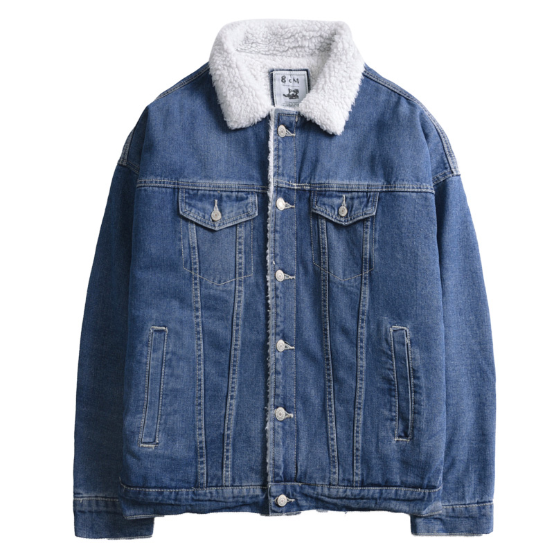 Men Jacket Warm Winter Loose Big Size Men Jean Jackets Jaqueta Jeans Masculina Denim Vintage Varsity Mens Denim Jacket II50JK