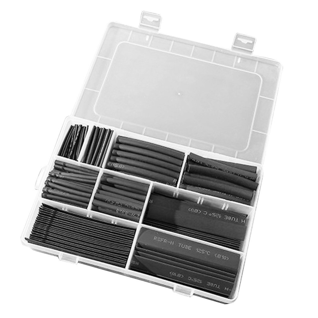 385Pcs/box Polyolefin Shrinking Assorted Insulated Sleeving Tubing Set Heat Shrinkable Tube Wrap Wire Heat Shrink Tubingdiscount