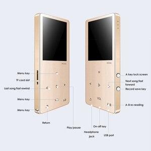 Image 4 - Mahdi M350 MP3 плеер Металлический спортивный мини портативный аудио 4G/8G музыкальный плеер