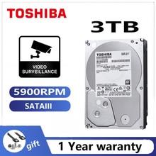 TOSHIBA DVR NVR CCTV 3TB ABA300V Video gözetim sabit Disk Disk 3000GB HDD HD dahili SATA 3 5900RPM 32M 3.5