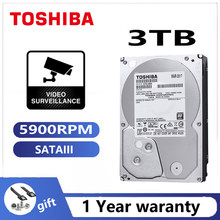 TOSHIBA DVR NVR CCTV 3TB ABA300V Video Überwachung Festplatte Festplatte 3000GB HDD HD Interne SATA 3 5900RPM 32M 3.5