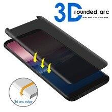 3D полное покрытие конфиденциальности Анти-Glar стекло для SAMSUNG Galaxy note8 note9 S8 S9 PLUS S8 PLUS анти-шпионская Защитная пленка для экрана, защита