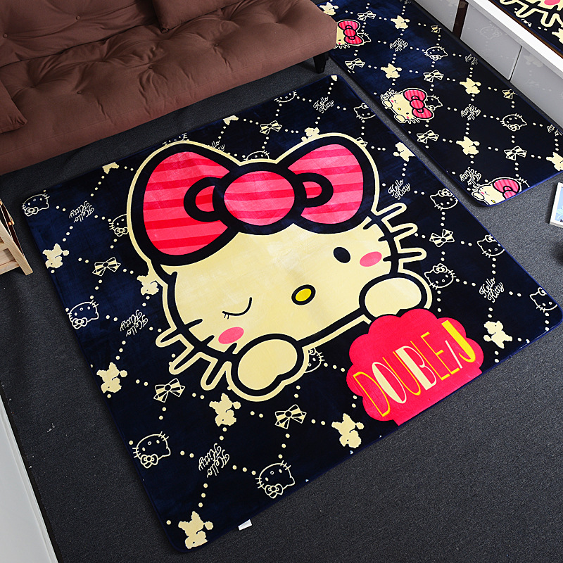 KT Baby Activity Mat Flannel Baby Gym Playmat Cartoon Yoga Mat Climbing Mats Kids Portable Game Pad Baby Accessories Room Decor