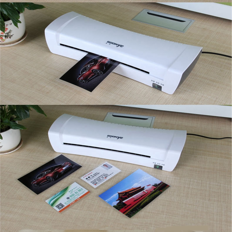 Plastificadora Professional Thermal Office Hot And Cold Laminator Machine For A4 Document Photo Packaging Plastic Film Roll