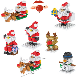 Mini Blocks Christmas Santa Claus Model Bricks Building Block Toy For Kids Children Creator Friend Children's Toy Christmas Gift