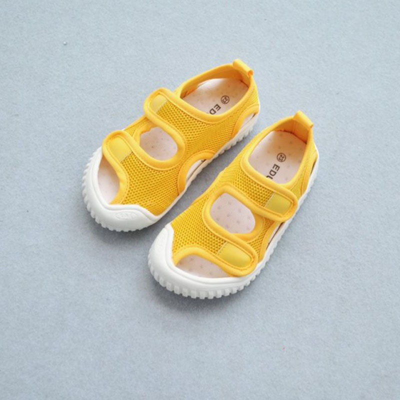 2020 Summer New Double Hook Children Mesh Sandals Breathable Wear-resistant Soft Comfortable Casual Baby Sandals
