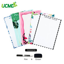 Купить с кэшбэком A5 Magnetic Writing Whiteboard Sticker Fridge Magnets Erasable Reminder Message Board Office Home Daily Schedule Memo To do List