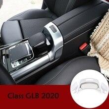 Para Mercedes Benz B GLB clase W247 X247 2019 2020 ABS cromo, Interior del coche caja para apoyabrazos central interruptor moldura de cubierta de Marco