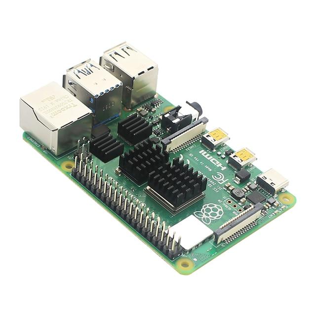 Oryginalny zestaw Raspberry Pi 4 Model B + etui z ABS + wentylator lub ekran dotykowy 3.5 cala + zasilacz 3A typu C + radiator do Raspberry Pi 4 4B