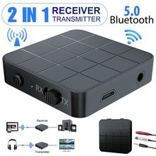 2in1 Bluetooth 5.0 Wireless Audio Transmitter Receiver HiFi Mp3 Adapter Rca Aux Stable Connectivity Durable And Practical