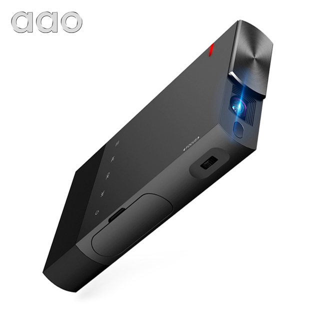 AAO 5200mAh DLP A1 Portable S1 Mini Projector 2000Lumens Sync Wired Display For IOS Android Phone 1080P Home Theater HDMI USB