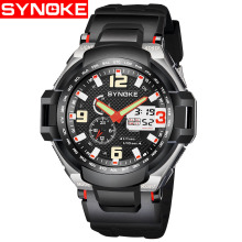SYNOKE Digital Watch Sport Watches Fashion men LED Display Men Wristwatch Military Waterproof Mens