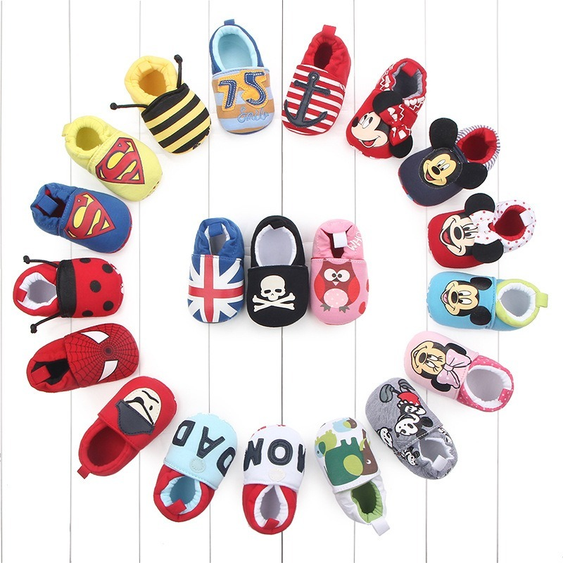 Newborn Baby Moccasins Toddler Baby Boy Girl Shoes Infant Soft Bottom Animal Print Baby Shoes Cotton Non-slip Crib First Walker