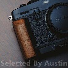 Ahşap ahşap el kavrama braketi hızlı bırakma L plaka Fuji Xpro3 Fujifilm X PRO3