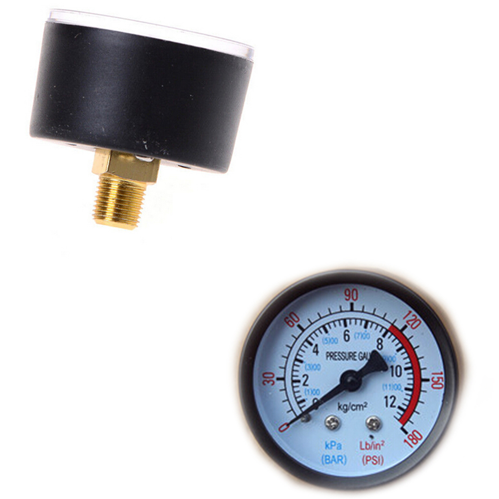 Hot Selling Air Compressor Pneumatic Hydraulic Fluid Pressure Gauge 0-12Bar / 0-180PSI
