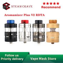 Oryginalny Steam Crave Aromamizer Plus V2 RDTA 8ml 16ml dużej pojemności Atomizer Top Fill kontrola przepływu powietrza e-cig zbiornik do e-papierosa VS Zeus X tanie tanio CN (pochodzenie) undefined 30mm