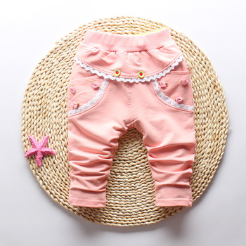 IENENS 0-3Y Girls Full Pants Trousers Clothes Kids Baby Girl Casual Bottoms Spring Autumn Child Cotton Haren Pants image