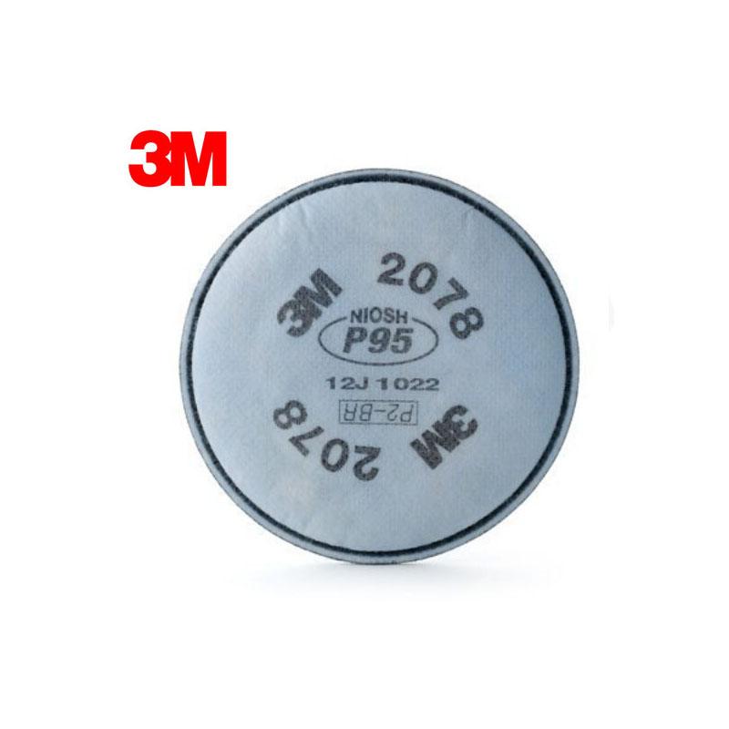 3M 2078 P95 Particulate Filters Dust-proof Respiratory Protection With Nuisance Level Organic Vapor/Acid Gas Relief