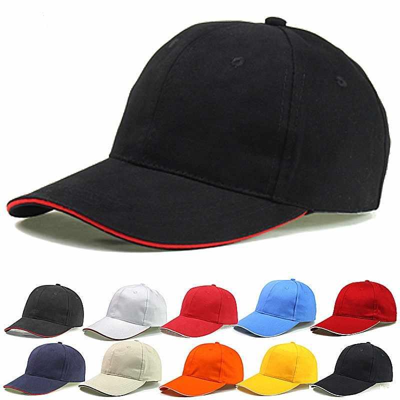Donne Cappellini Da Baseball Per gli uomini di Marca Tinta Unita di Colore Solido Berretti Cappelli di Modo di Osso Femminile Papà Cap