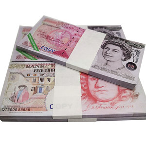 Pound GBP Money Joss Paper Ancestor Birthday Heaven Gift Hell Banknote Money Prop Fake £5000 Bring The Good Luck Wealth(China)