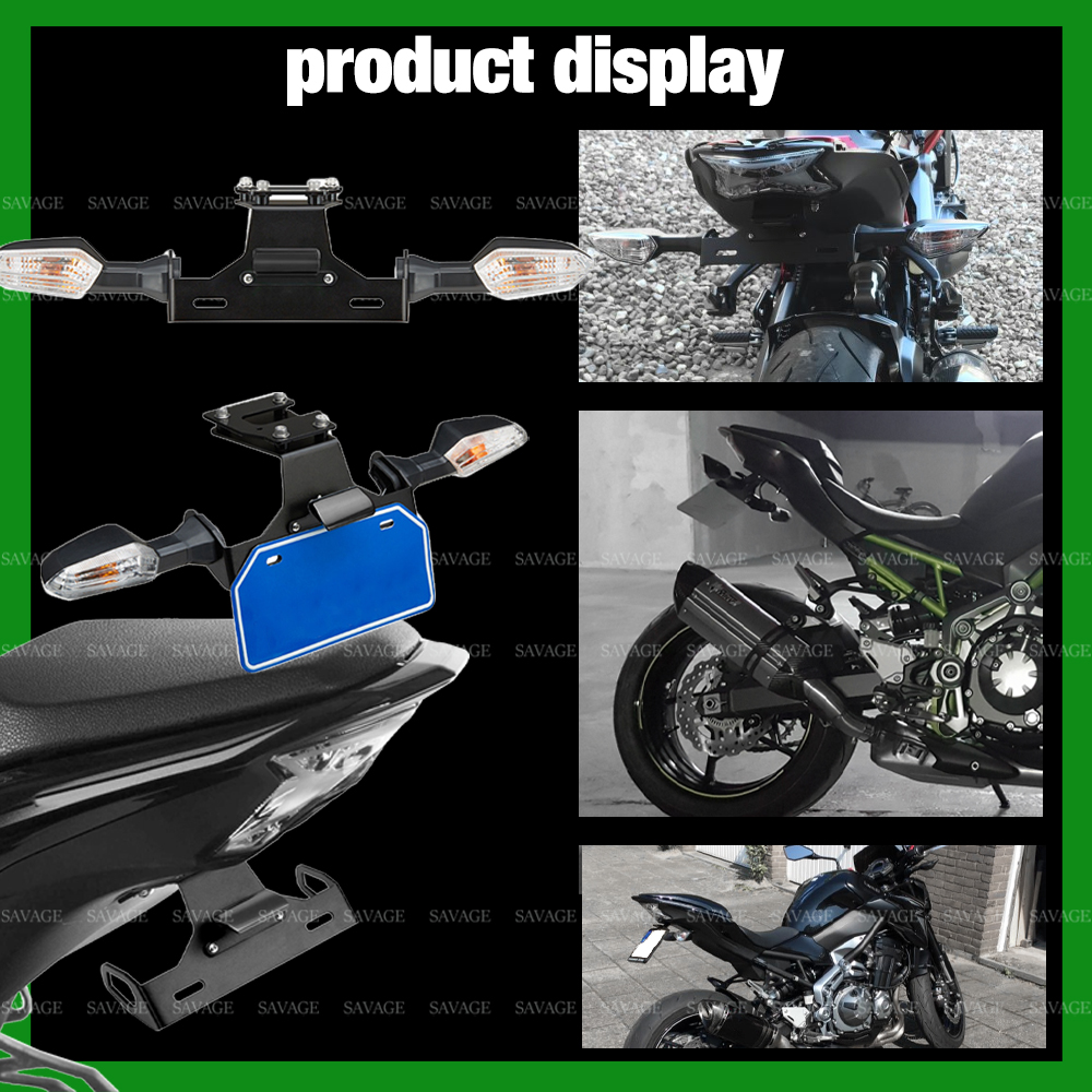 License Plate Holder For KAWASAKI Z900 2017-2020 18 19 Motorcycle Tail Tidy Fender Eliminator Registration Plate LED Light Z 900