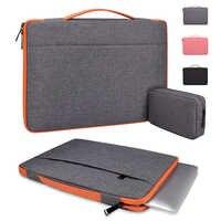 Hommes à manches pochette d'ordinateur sac à main ordinateur portable transportant étui pour macbook Air Pro 11.6 13.3 15.6 pouces Dell Asus Microsoft femmes sac de souris