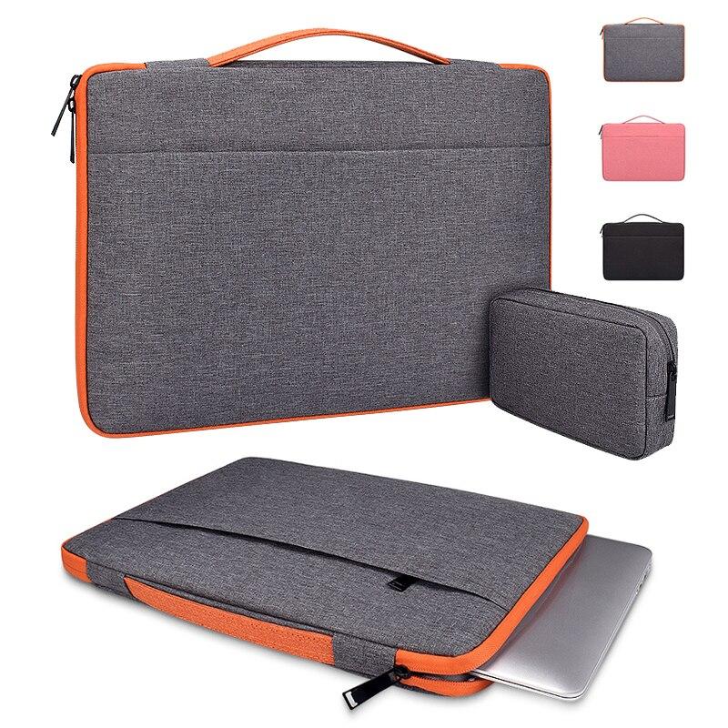 Saco do portátil dos homens manga bolsa notebook caso de transporte para macbook ar pro 11.6 13.3 15.6 Polegada dell asus microsoft