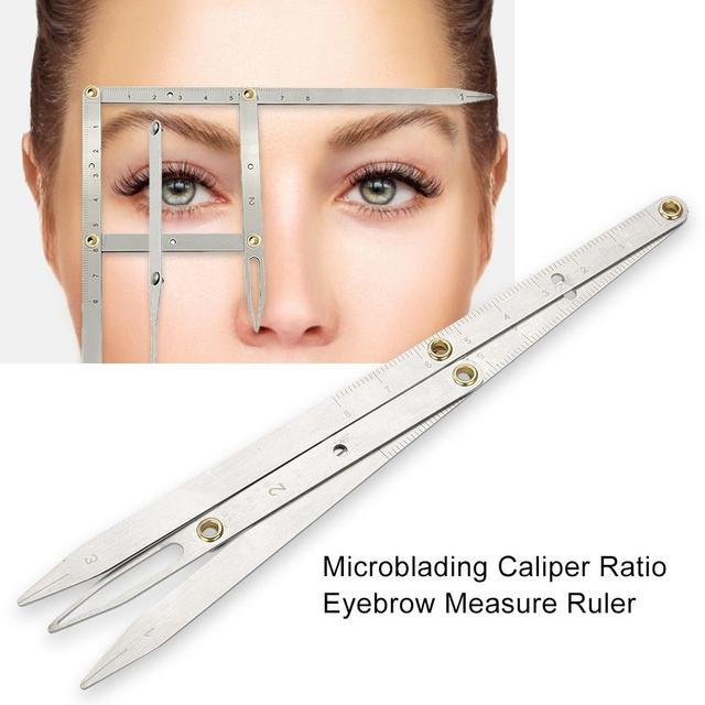 Hot Tattoo Three-point Positioning Eyebrow Balance Ruler for Semi Permanent Makeup Eyebrow Stencils