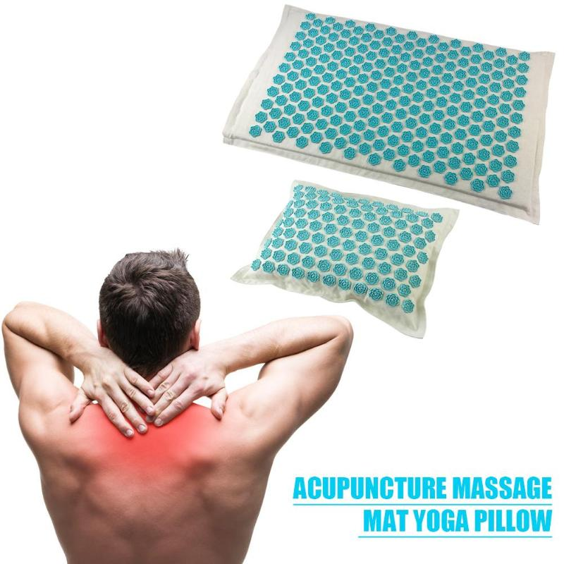 1 Set Massager Cushion Acupuncture Sets Relieve Stress/Pillow Massage Mat Rose Spike Massage And Relaxation