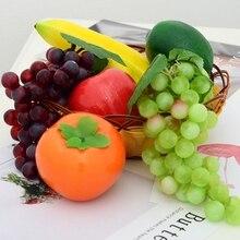 Искусственные фрукты поддельные яблоко лимон игрушечный миксер фрукты для украшения свадьбы Вечерние украшения дома реквизит для фотосъемки ремесло еда