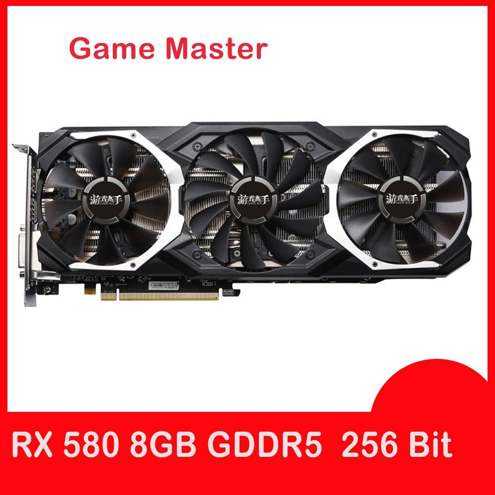 Yeston RX 580 8Gb видеокарта Gpu 256Bit Ddr5 Pci-E 3,0 4 x Hdmi 14 нм компьютерная видеокарта
