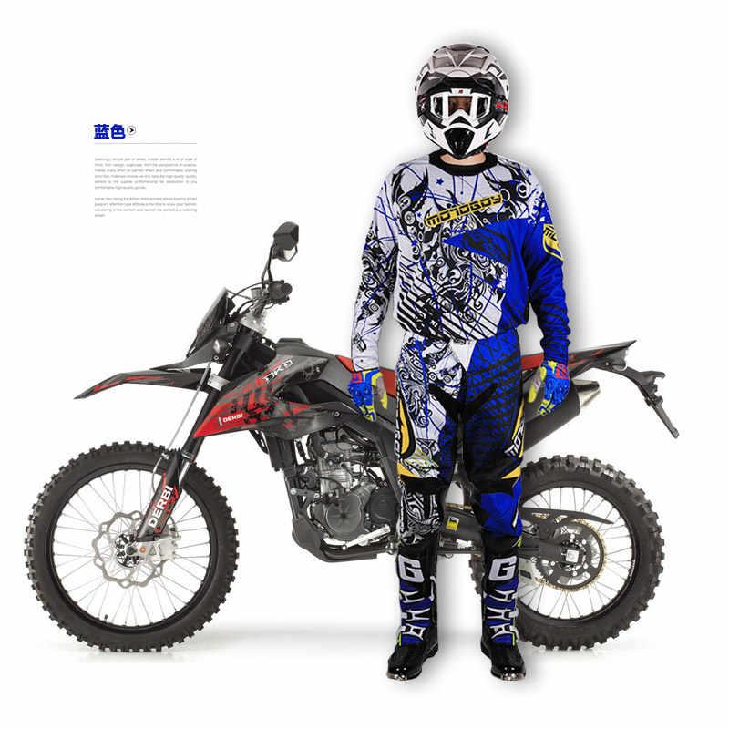 Vêtements respirants résistant à séchage rapide en Nylon Motoboy hommes professionnel hors route motocross course sport T-shirt et pantalon costume