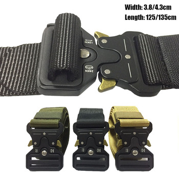Tactical Belt Military Nylon Army Police Outdoor Survival Combat Belt Hunting Accessories Training Inner Metal Buckle