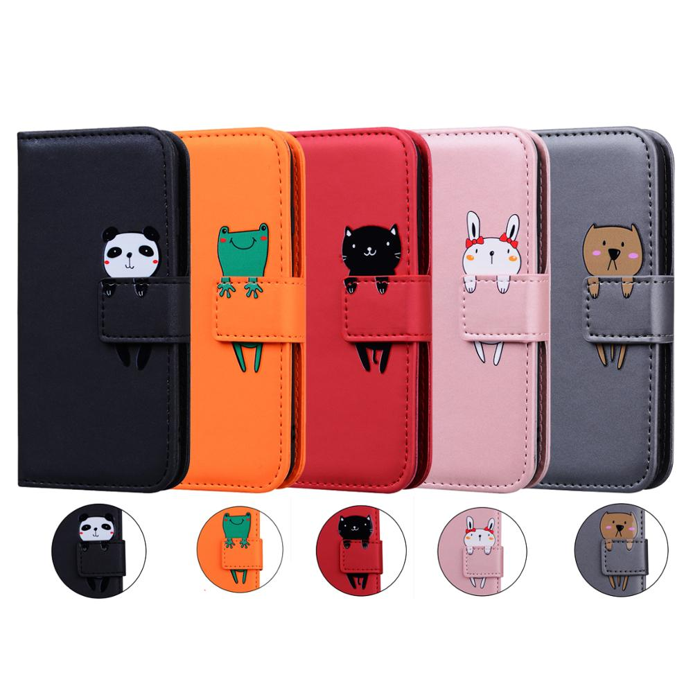 Leather Case on For Huawei Y5 Y6 Y7 P Smart Plus 2018 2019 Honor 8A 7A 8X P30 P9 P10 Lite P20 Pro Cover Wallet Flip Phone Cases