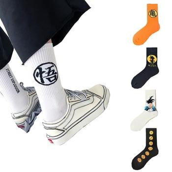 Mens cartoon anime dragon z ball son goku socks Harajuku fashion street trend casual personality cotton funny skateboard