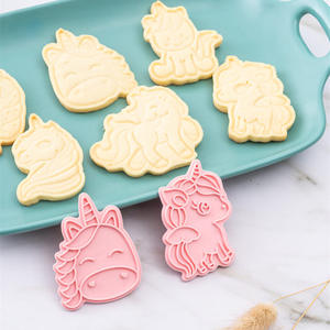 Pastry Bakeware-Tool Biscuit Mold Cookie-Cutters Unicorn-Shape Baking Kitchen Plastic